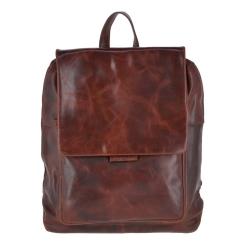 Стильный мужской кожаный рюкзак коричневого цвета с легким глянцем от Ashwood Leather, арт. Fred Vintage Tan