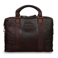 Коричневая кожаная мужская сумка, с одним отделением и карманом для ноутбука от Ashwood Leather, арт. G-34 Brandy