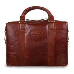 Мужская деловая сумка из натуральной кожи, коричневого цвета, для документов и ноутбука от Ashwood Leather, арт. G-34 Tan