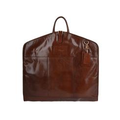 Мужской кожаный портплед орехового цвета для перевозки костюма от Ashwood Leather, арт. Harper Chestnut Brown