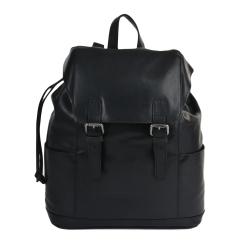 Стильный мужской повседневный рюкзак из натуральной кожи черного цвета от Ashwood Leather, арт. Harvey Black
