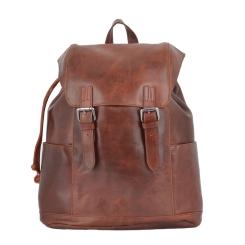 Эффектный мужской рюкзак из натуральной кожи светло-коричневого цвета от Ashwood Leather, арт. Harvey Tan
