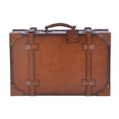 Большой винтажный чемодан из натуральной кожи коричневого цвета от Ashwood Leather, арт. Morgan Tan