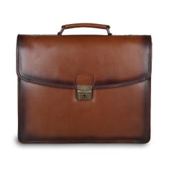 Классический мужской портфель из натуральной кожи для документов и ноутбука от Ashwood Leather, арт. Orlando Tan