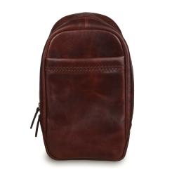 Элегантный мужской кожаный рюкзак бордово-коричневого цвета от Ashwood Leather, арт. Perry Vintage Tan