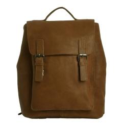 Модный мужской городской рюкзак из натуральной кожи рыжего цвета от Ashwood Leather, арт. Ryan Tan