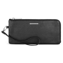 Функциональное мужское портмоне из черной натуральной кожи от Avanzo Daziaro, арт. 018-031301