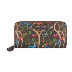 Женское портмоне из натуральной кожи с тиснением сафьяно и цветным принтом от Avanzo Daziaro, арт. 019 1008EG02