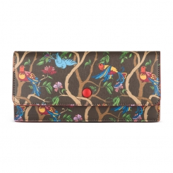 Женское портмоне из натуральной кожи с тиснением сафьяно и необычным принтом от Avanzo Daziaro, арт. 019 1035EG02