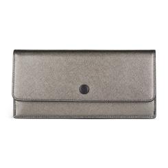 Женское портмоне из натуральной кожи серого цвета, с двумя отделениями от Avanzo Daziaro, арт. 019 1035GRE