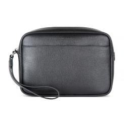 Мужской клатч, выполненный в лаконичном стиле из черной натуральной кожи от Avanzo Daziaro, арт. 019-101501