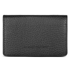 Кожаный кардхолдер с удобными кармашками, модель черного цвета от Avanzo Daziaro, арт. 018 201301
