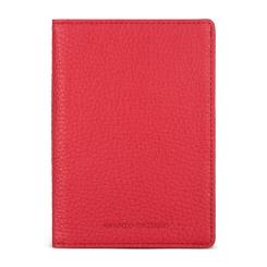 Многофункциональная обложка для документов красного цвета из натуральной кожи от Avanzo Daziaro, арт. 018 211304
