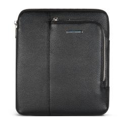 Черная мужская сумка планшет с широким регулируемым ремнем от Avanzo Daziaro, арт. 018-021301