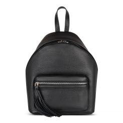 Городской женский рюкзак из натуральной кожи классического черного цвета от Avanzo Daziaro, арт. 018 103201