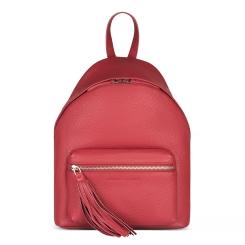 Женский городской рюкзак из плотной натуральной кожи красного цвета от Avanzo Daziaro, арт. 018 103204
