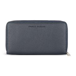 Практичное стильное мужское портмоне из натуральной кожи синего цвета от Avanzo Daziaro, арт. 018 100203
