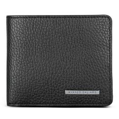 Компактное мужское портмоне из черной натуральной кожи от Avanzo Daziaro, арт. 018-251301