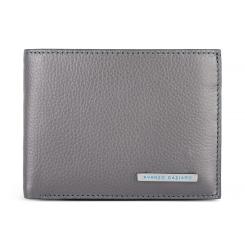 Классическое мужское портмоне из серой натуральной кожи от Avanzo Daziaro, арт. 018-257008