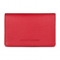 Парктичный кардхолдер из натуральной кожи красного цвета от Avanzo Daziaro, арт. 018 201304