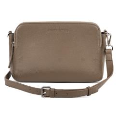 Компактная женская сумка из бежевой натуральной кожи от Avanzo Daziaro, арт. 018-103355