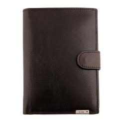 Вместительное мужское портмоне из натуральной кожи, коричневого цвета от Barkli, арт. 00002-5 coffee Br