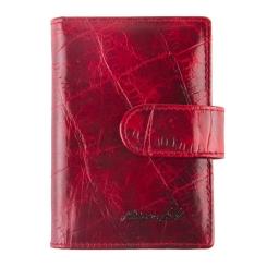 Стильная кожаная визитница, красного цвета, с двадцатью вкладышами от Barkli, арт. 00023-A80 red Br