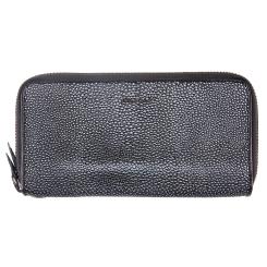 Классический женский кошелек из натуральной кожи, черного цвета, на молнии от Barkli, арт. 00031-A260 black Br