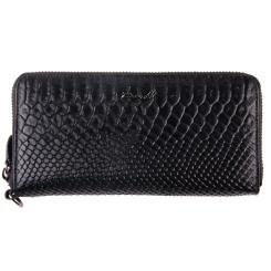 fdc5706ddb41 Женский кошелек из черной натуральной кожи с тиснением от Barkli, арт.  00051-A279