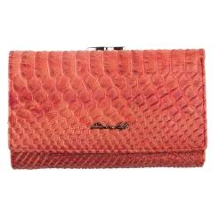 Женский кошелек из натуральной кожи, красного цвета, с тиснением от Barkli, арт. 018C-A280-B red Br