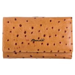Кожаный женский кошелек, коричневого цвета, с двумя отделениями для купюр от Barkli, арт. 018C-A344-B l.camel Br