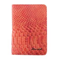 Красная обложка для документов, выполнена из натуральной кожи от Barkli, арт. 00019-A280 red Br