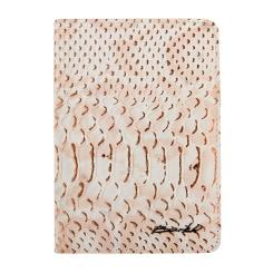 Обложка для документов из серо-бежевой натуральной кожи от Barkli, арт. 00019-A281 grey Br