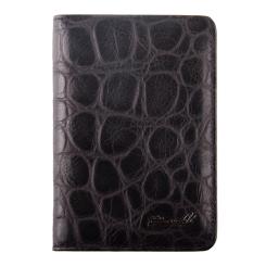 Кожаная обложка для паспорта и автодокументов с тиснением под рептилию от Barkli, арт. 00019-A303 black Br