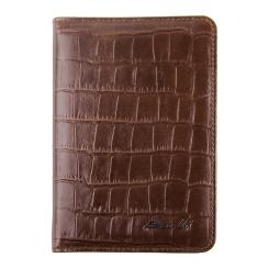 Практичная обложка для документов, выполненная из плотной натуральной кожи от Barkli, арт. 00019-A354 brown Br