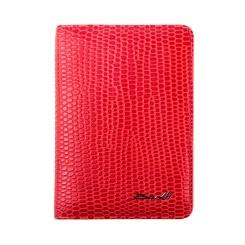 Эффектная и яркая кожаная обложка для документов и пластиковых карт от Barkli, арт. 00019-A381 red Br