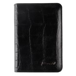 Обложка для документов черного цвета из натуральной кожи от Barkli, арт. 00019-A79 black Br