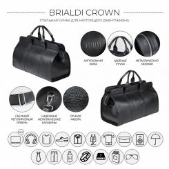 Сумка Brialdi Crown relief black