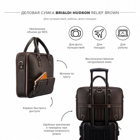 Сумка Brialdi Hudson relief brown