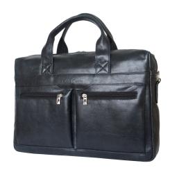 Стильная мужская деловая сумка из натуральной кожи черного цвета от Carlo Gattini, арт. 1007-20