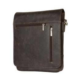 Мужская сумка планшет с двумя кармашками на клапане от Carlo Gattini, арт. 5009-04