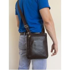 Стильная мужская сумка планшет из натуральной кожи, носится через плечо от Carlo Gattini, арт. 5021-04