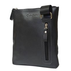 Мужская сумка планшет из натуральной кожи с одним отделением на молнии от Carlo Gattini, арт. 5031-01