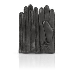 Строгие мужские перчатки из натуральной кожи ягненка черного цвета от Dali Exclusive, арт. 100_ARMER/BL