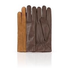 Двухцветные мужские перчатки из натуральной кожи ягненка от Dali Exclusive, арт. 100_ARSON/GORJ//11
