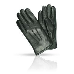 Мужские перчатки из гладкой натуральной кожи ягненка черного цвета от Dali Exclusive, арт. 100_BERLIN/BL//11