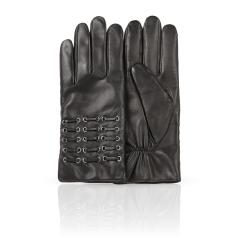 Мужские перчатки из натуральной кожи ягненка с красивым тиснением от Dali Exclusive, арт. 100_IRLOG/BL//11