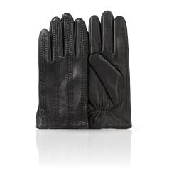 Мужские перчатки из натуральной кожи ягненка с продольным тиснением от Dali Exclusive, арт. 11_ARMER/BL