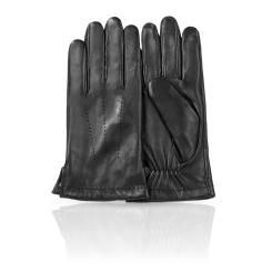 Строгие мужские перчатки из натуральной кожи ягненка черного цвета от Dali Exclusive, арт. 11_GYOR/BL