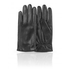 Мужские перчатки из натуральной кожи ягненка с светлой прошивкой от Dali Exclusive, арт. 11_JITROIS/BL//11